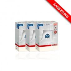 Stofzak voor Miele stofzuigers - G/N HyClean - 3x4 voordeelpak