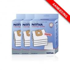 Stofzak voor Nilfisk stofzuigers - Power series - 3x4 voordeelpak
