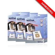 Stofzak voor Nilfisk stofzuigers - Extreme, King en GM200/300/400 series - 3x4 voordeelpak