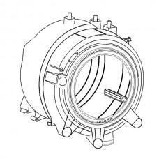 Kuipgroep compleet voor Whirlpool en Bauknecht wasmachines